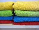 Colourful towels provided
